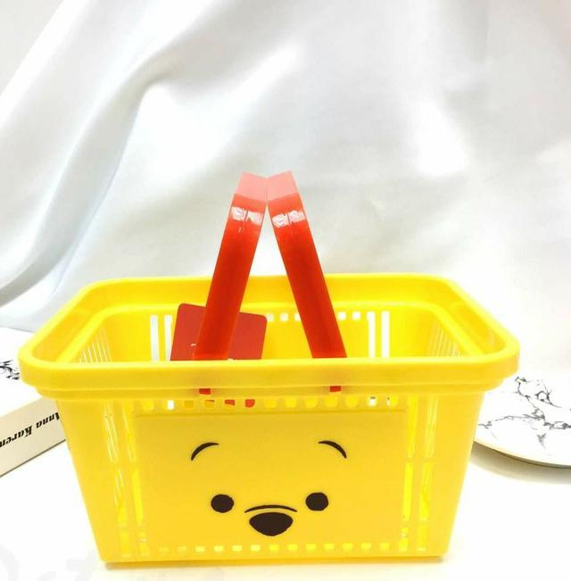 日本正版迪士尼 塑膠手提置物籃