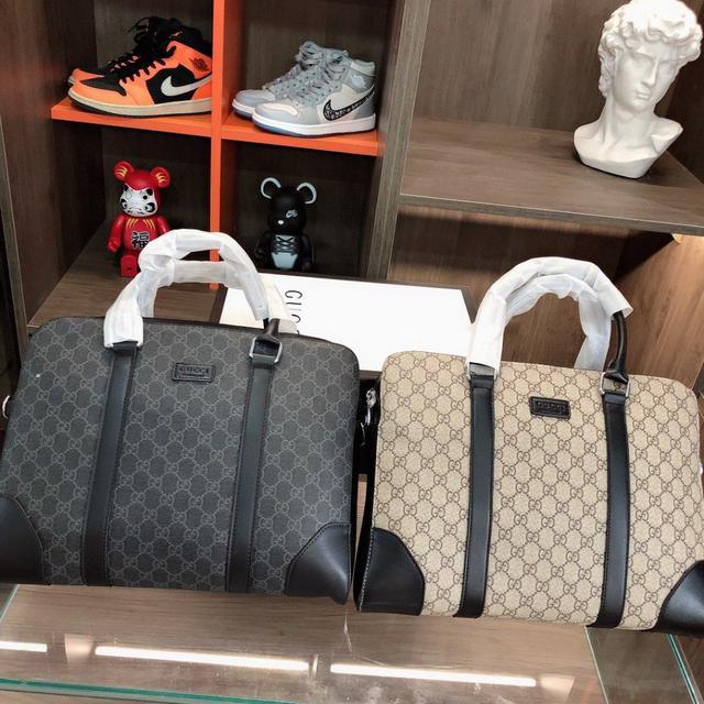 Gucci 古奇 🧳 公文包 男士手提包 採用優質原廠🐂材質, 頂級做工 電鍍五金 高端貨