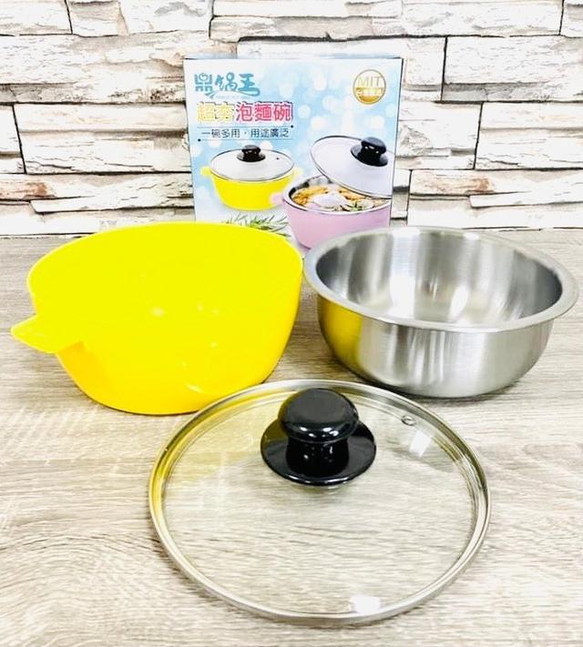 預購 鼎鍋王 304不鏽鋼-雙層超大容量附蓋子 泡麵碗