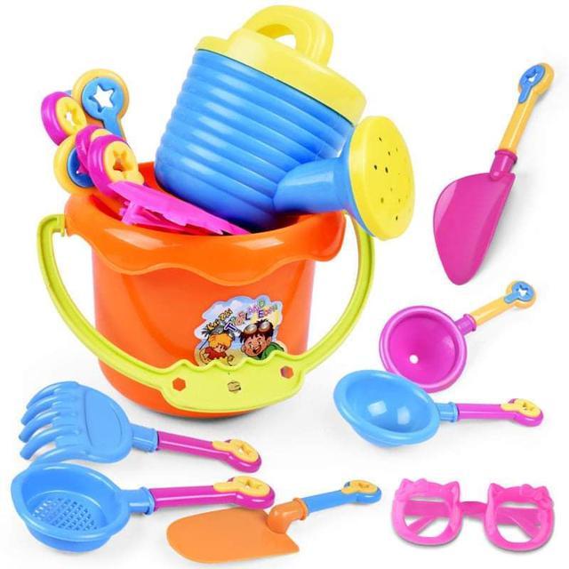 (預購S) G813 - 沙灘戲水玩具桶9件組