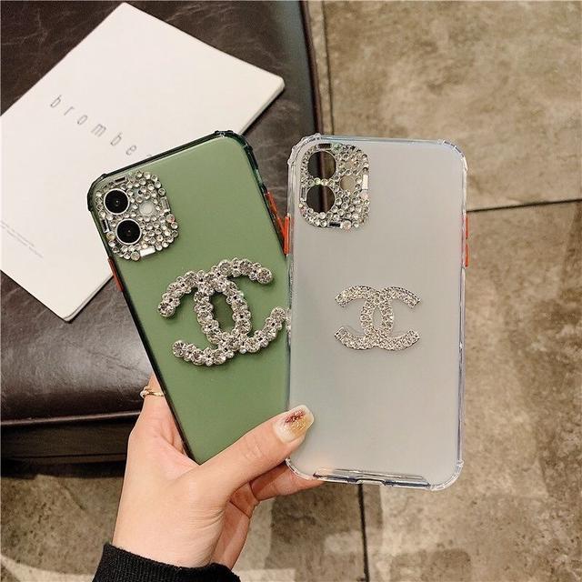 奢侈鑲鑽蘋果11pro/max手機殼iphone7p/8p軟小香風XR/X磨砂全包女
