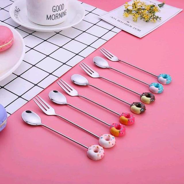 (預購S)超可愛米奇頭甜甜圈造型餐具