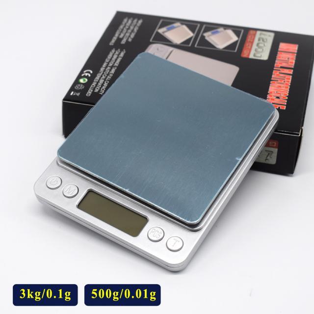 0.1/3000g 不鏽鋼電子秤 英文按鍵