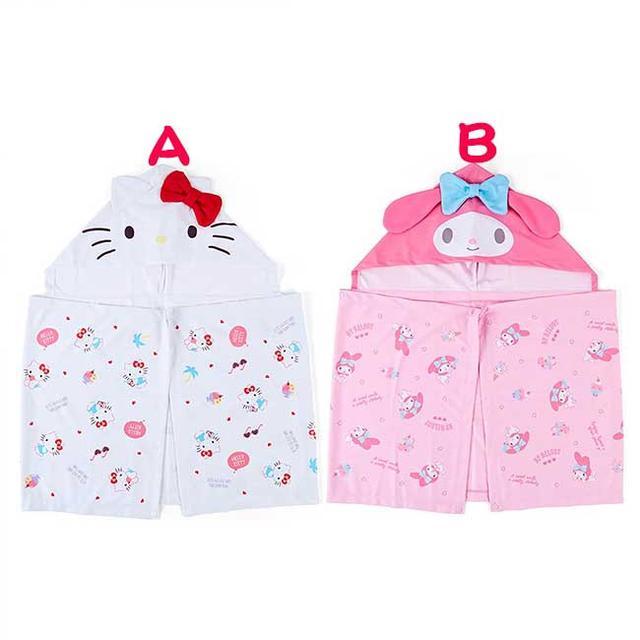 連帽涼感斗篷 三麗鷗 KITTY 美樂蒂 附夾鏈袋 造型斗篷 日本進口正版授權
