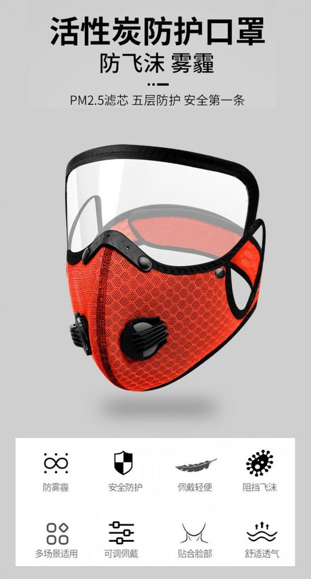 #防塵口罩帶防護鏡片可拆卸  #tsp預購  批價:43