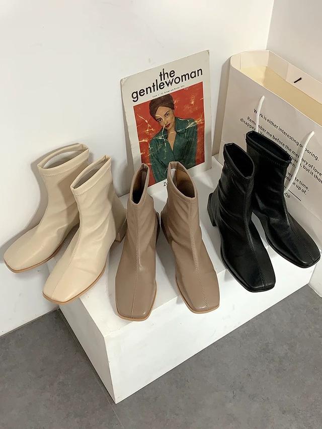 ᴄᴏʀᴀ.極美🇰🇷韓系低跟方頭靴