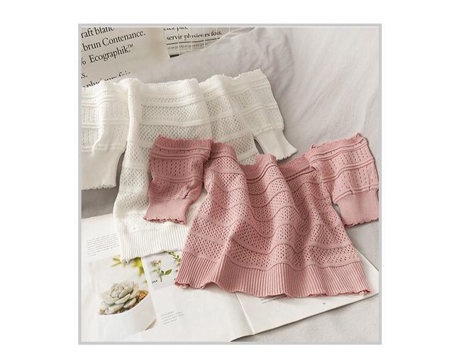 正韓女裝 針織平口雪紡衫