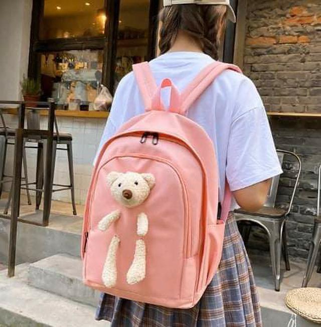 (預購S) P133 - 小熊娃娃帆布包四件套