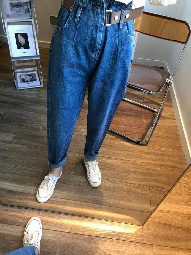 韓版腰帶牛仔褲