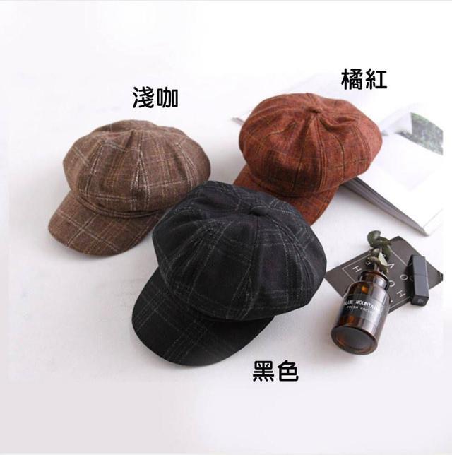 秋冬英倫風羊毛貝雷帽