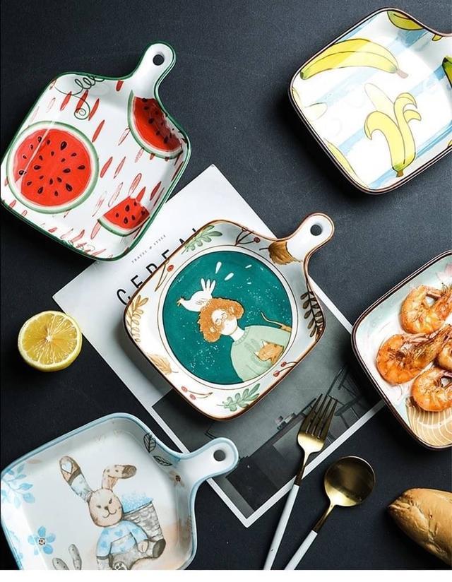 歐美微波爐烤箱陶瓷沙拉盤