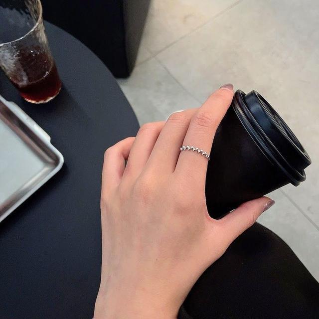 🌟預購🌟小巧銀珠戒指