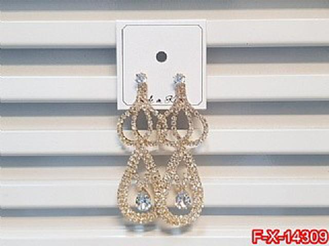 閃鑽鋯石鏤空長款耳環   耳針 韓式
