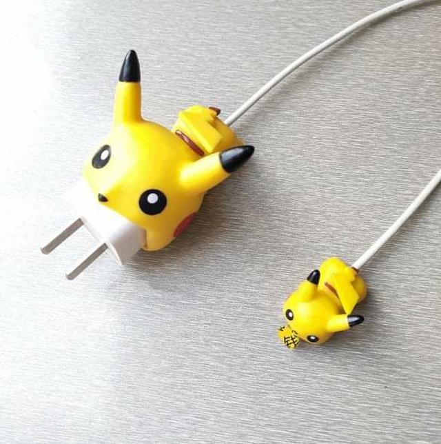 (預購S) N041 - 卡通一口咬充電線充電頭保護套組