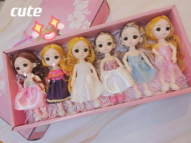 16公分娃娃禮盒💝套裝一盒6支A款B款