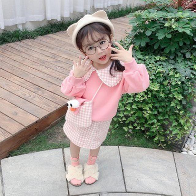 預購~~ 秋冬装兒童冬季時髦兩件套(豆)