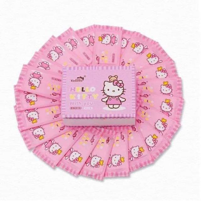Hello Kitty盒裝單片式濕紙巾