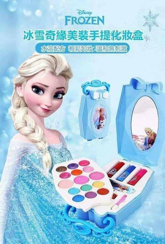 冰雪奇緣兒童水溶性彩妝手提盒
