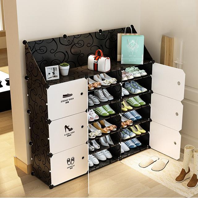18格進門鞋櫃 玄關鞋架 收納櫃 置物架 魔片DIY鞋櫃 防塵鞋櫃