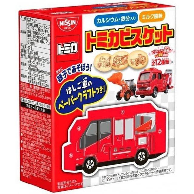 預購 日清 TOMICA多美小汽車 手作盒裝小餅乾 40g