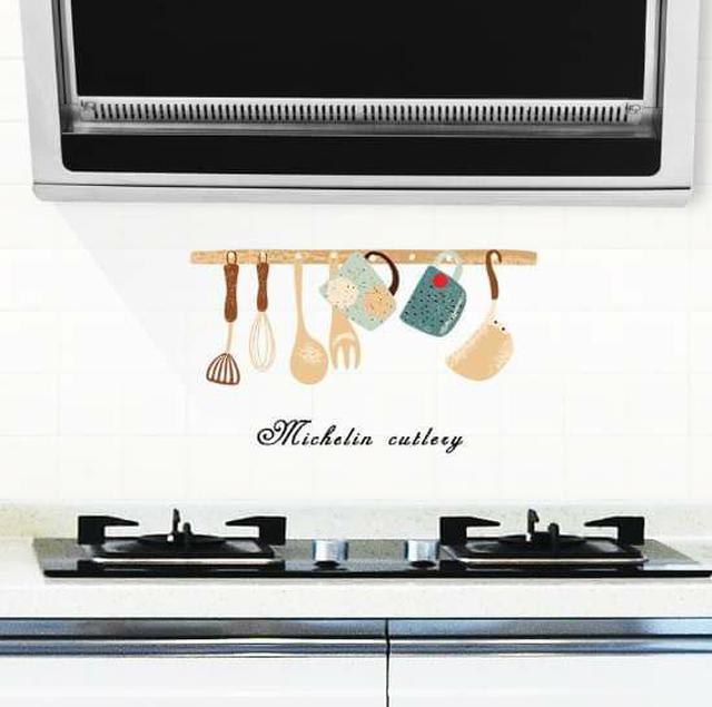 (預購S) 廚房透明款耐高溫防油貼(一組5張)