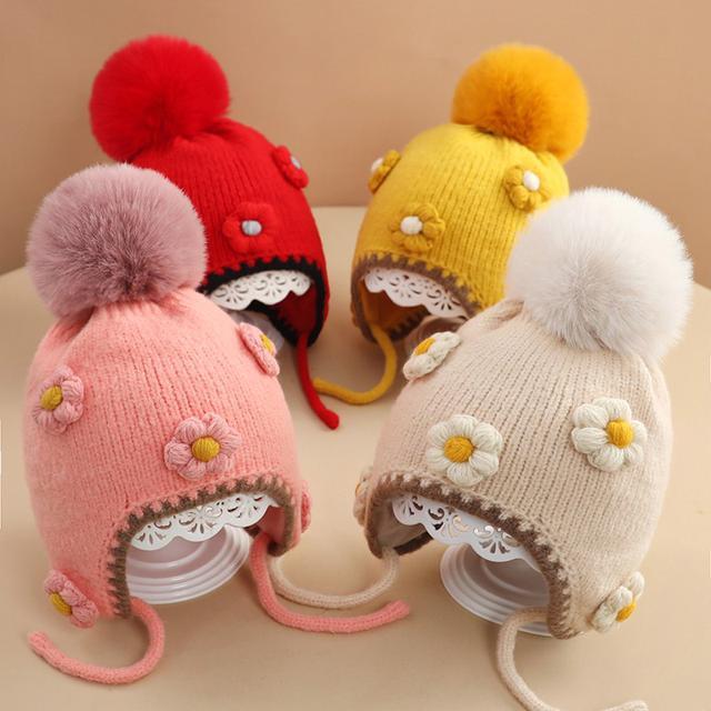 秋冬季嬰兒毛線帽(貝)