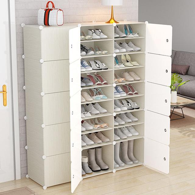 DIY組裝鞋櫃 簡易鞋架 多層宿舍防塵鞋櫃 收納門口鞋架子