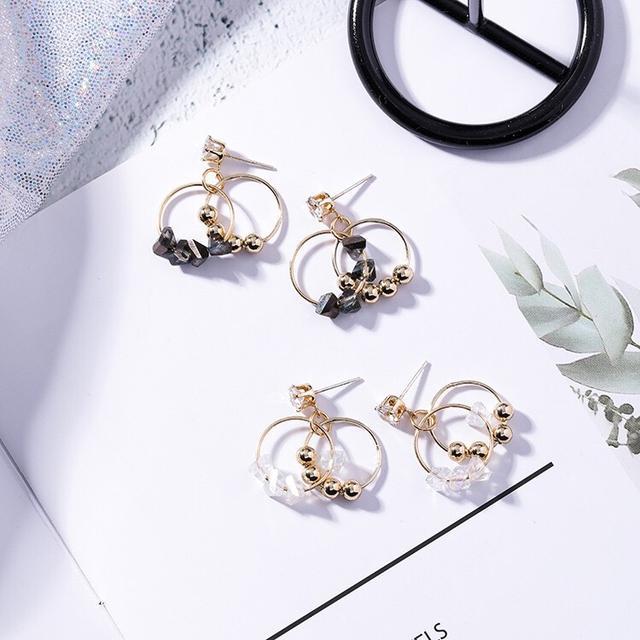 🇰🇷韓版水晶圓圈耳環