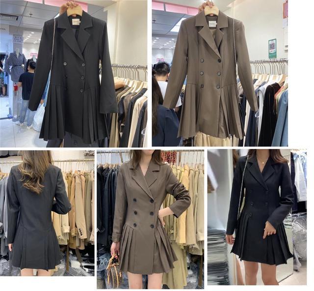新款預購東大門韓國同款西裝雪紡裙