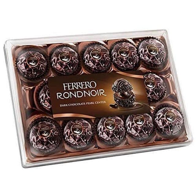德國限定!FERRERO RONDNOIR 朗莎黑巧克力-14顆/盒