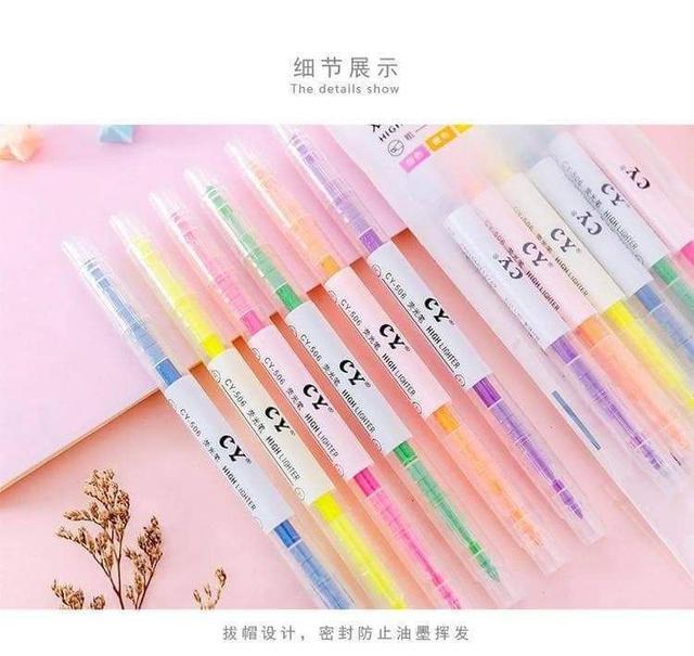 彩色雙頭螢光筆-4組