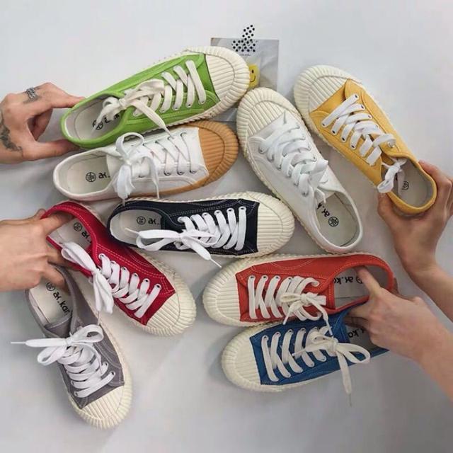 實拍無色差!台灣製 超夯餅乾鞋 帆布鞋 小白鞋 多色可選