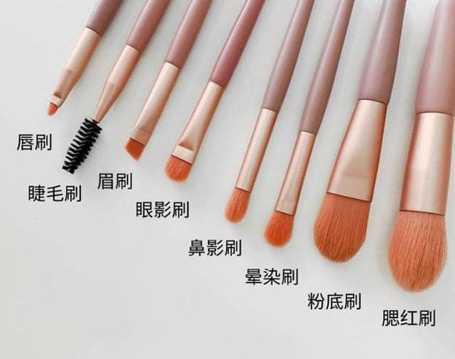 (預購S) A264 - 啞光木化妝刷8支美容刷具組