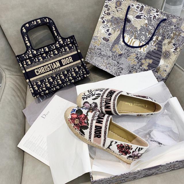 Dior刺绣原版渔夫鞋