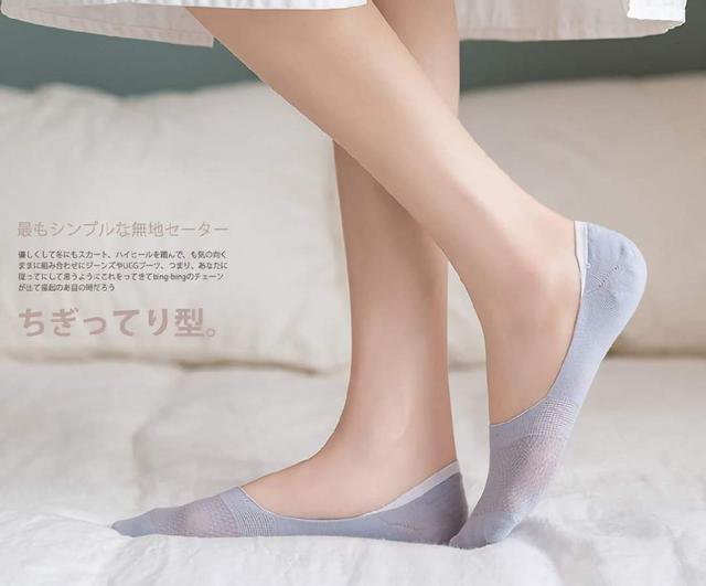 (預購s+) E032-鏤空網眼淺口隱形襪(一組5雙)