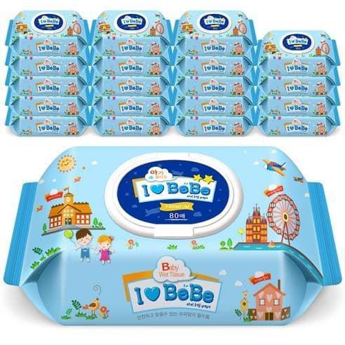 韓國原裝進口ilovebebe純水濕紙巾 10包一箱