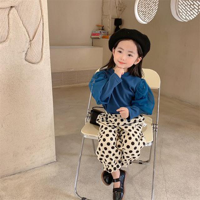 女童泡泡袖時髦兩件套網紅秋款套装(貝)