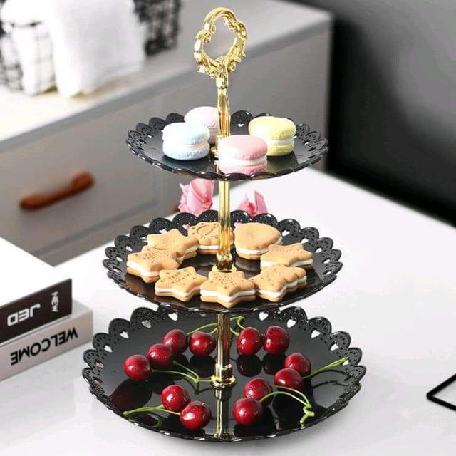 (預購S) 三層歐式優雅下午茶水果蛋糕三層盤