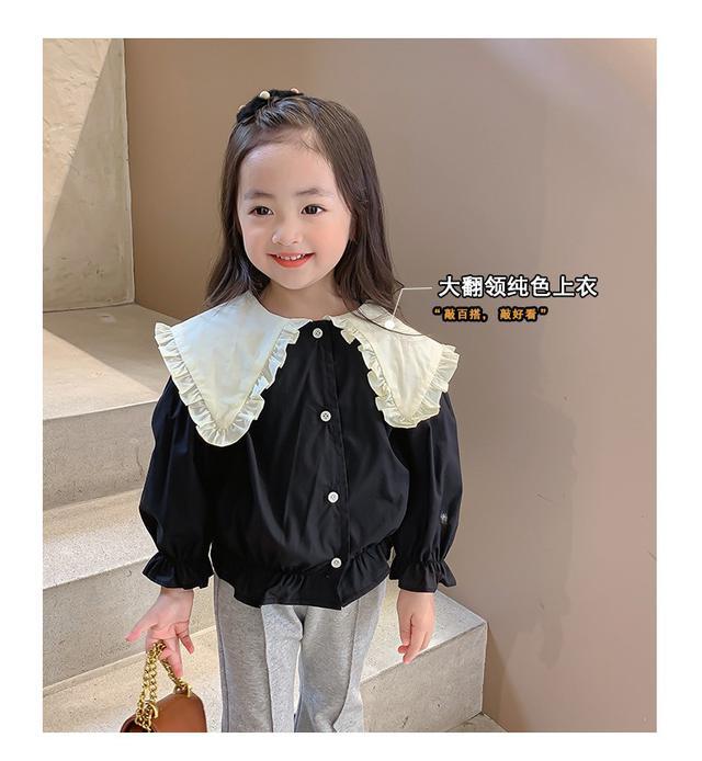 兒童毛衣外穿洋氣女寶寶針織襯衣(貝)