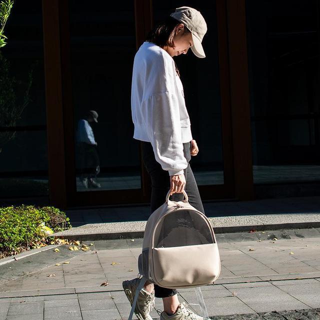 LYC08040-01F-戶外出行寵物雙肩包貓咪包 透明透氣便捷寵物背包
