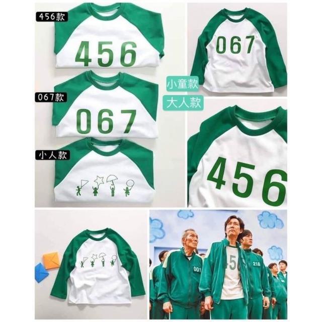 #預購火遍全球!!!韓劇魷魚游戲同款 參賽者長袖上衣
