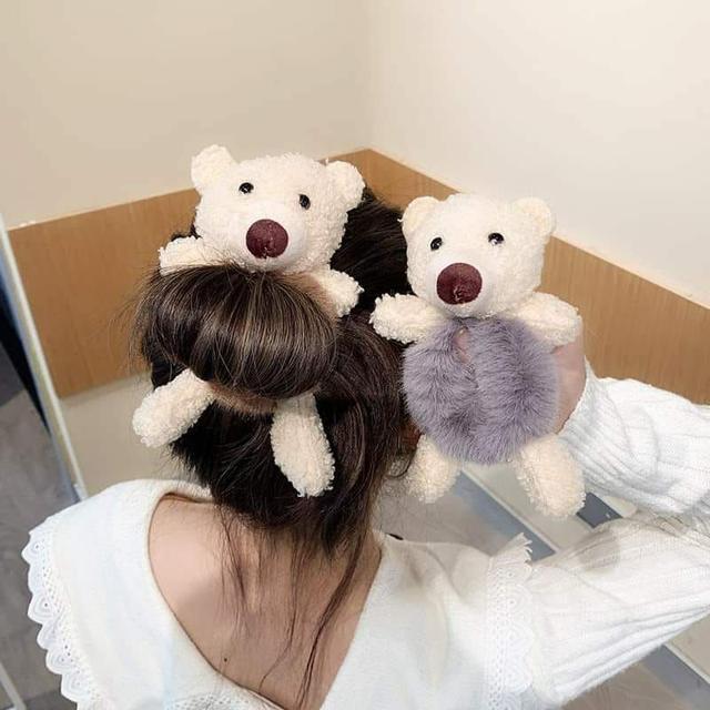 4/12收單-慵懶又可愛小熊髪圈(2個一組)