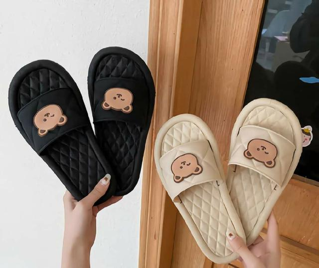 (預購s+)  C007-可愛熊熊軟底平底拖鞋