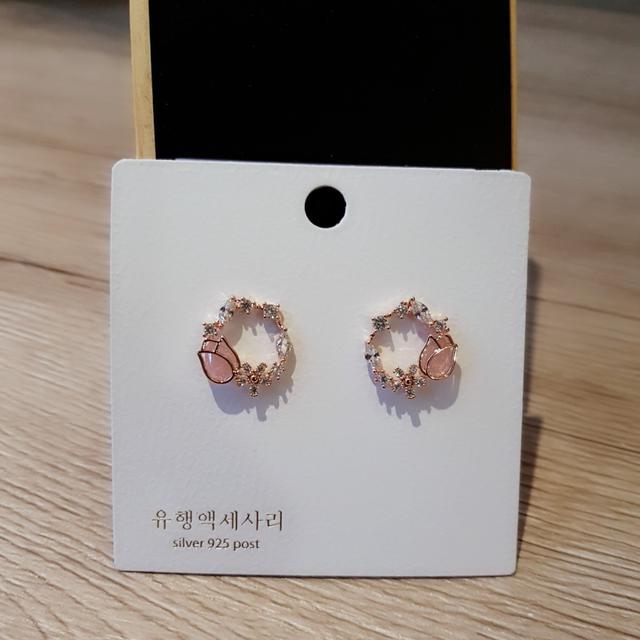 韓國氣質花朵貼耳
