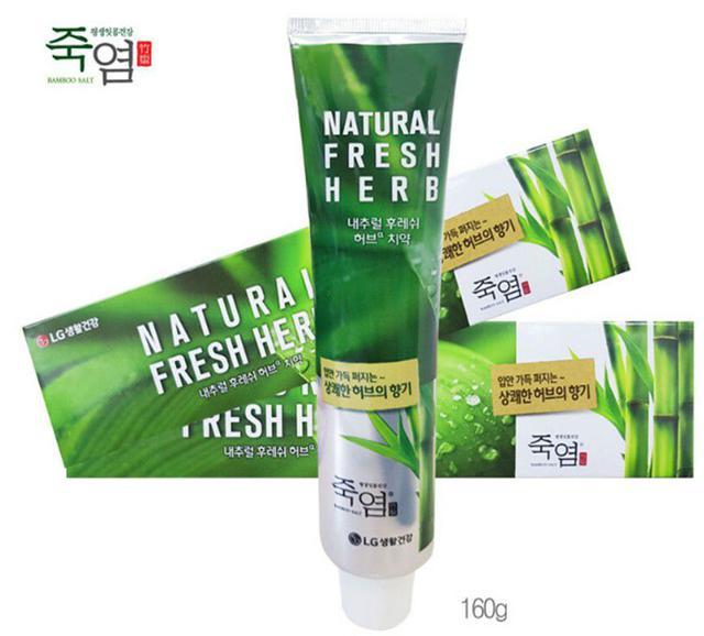 韓國 LG 清新香草竹鹽全效護理牙膏 160g