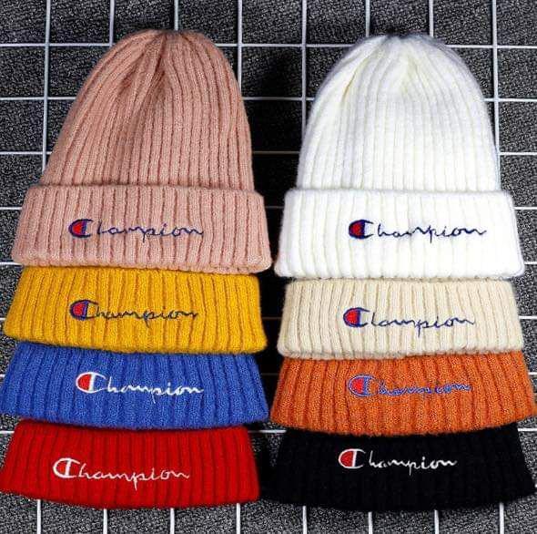 (預購S) 秋冬Champion冠軍刺繡logo針織毛帽
