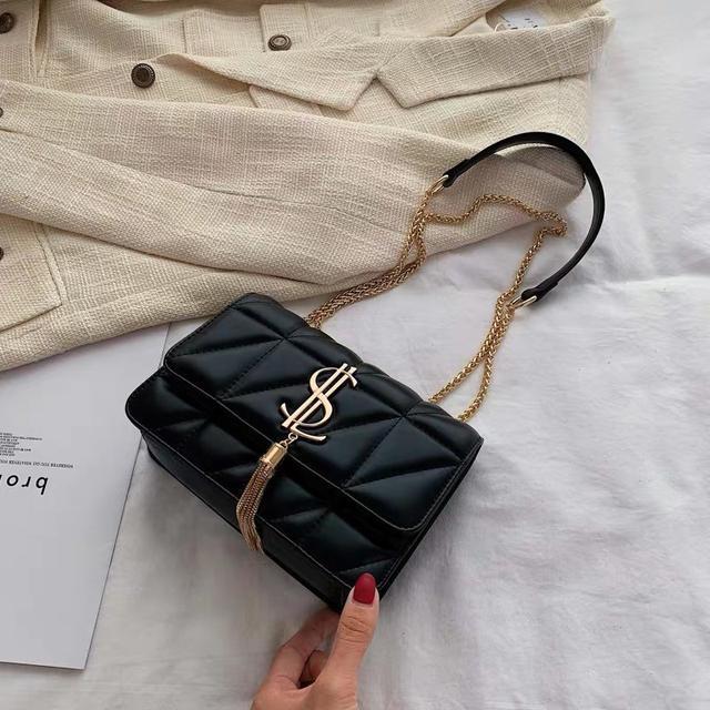 高级感包包女包新款2020网红菱格链条包百搭单肩斜挎包时尚小方包