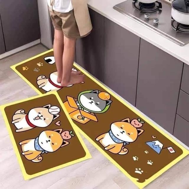 (E)預購 【可機洗】可愛柴犬家族地墊(大+小)/款式隨機
