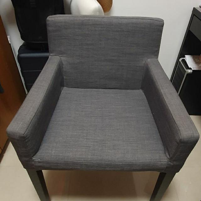 二手 椅子 灰色布椅 IKEA 布椅 灰色