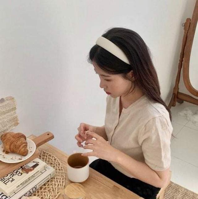 (預購S) H224 -韓國復古糖果色布藝髮箍